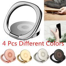 4pcs 360° Finger Ring Stand Car Magnetic Metal Plate Phone Holder Desk Bracket