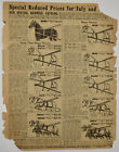 1913 Sears Roebuck Catalog Ad Horse Harness Wire Fence Antique Vintage B
