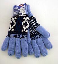 Damenhandschuhe Fingerhandschuh Alaska hellblau Gr.S mit 100 % Polyacryl