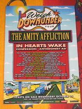 THE AMITY AFFLICTION - 2015 AUSTRALIAN TOUR  -  PROMO TOUR POSTER