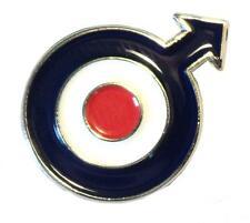 Red White Blue RAF MOD Target Roundel & Arrow Metal Enamel Scooter Badge