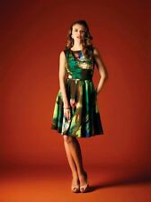 GOK WAN BOLD & BEAUTIFUL WATERCOLOUR FLARED HEM DRESS BNWT SZ 8