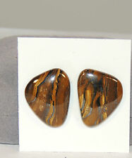 Tiger Iron 22x17mm Free Form pair of Cabochons  (4453)