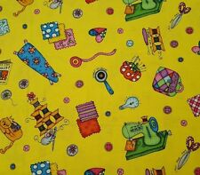 Kids Can Quilt BTY Kari Pearson Quilting Treasures Quilting Bright Toss Yellow