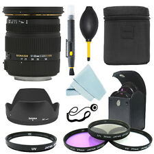 Sigma 17-50mm f/2.8 EX DC OS HSM Zoom Lens for Canon+ Filter Kit + Accessor