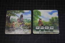 2pc Funny Fishing Fisherman Coasters Garner Comic Barware Cabin