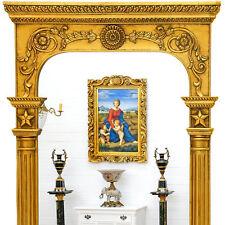 Großer PFEILERSPIEGEL mit SÄULEN ca.138cm EXKLUSIV KLASSIZISMUS WANDSPIEGEL GOLD