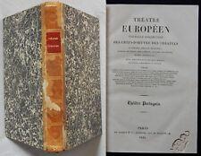 P/ Théâtre Européen : PORTUGAIS / ANGLAIS 1835 (relié)
