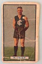 1939 ALLENS FOOTBALLERS CARD CRESWELL (M) CRISP CARLTON BLUES VFL