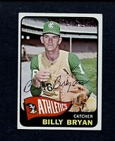 1965 TOPPS BILLY BRYAN KANSAS CITY A'S AUTOGRAPHED  CARD -#51