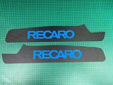 FOCUS MK3 RS Seat plaques CARBONE WRAP, Nitrous Bleu RECARO