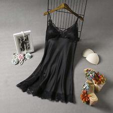 Women Sexy Lingerie Ice Silk Robe Dress Babydoll Nightgown Sleepwear Nightwear