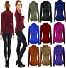 Womens Ladies Stretch Peplum New One Button Long Sleeves Coat Jacket Blazer Top