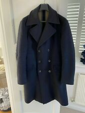 Private White VC Navy Mens Wool / Cashmere Great Coat ( Size 6 / XL)