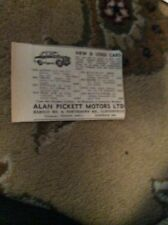 m27 ephemera 1950s advert alan pickett motors ltd cliftonville