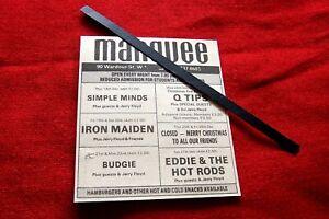 IRON MAIDEN ORIGINAL 1980 VINTAGE GIG ADVERT MARQUEE LONDON