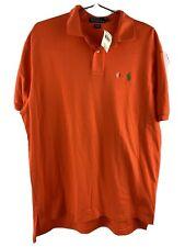 Polo Ralph Lauren Orange Polo Shirt Men's Size L New NWT