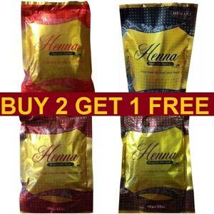 Natural Henna Powder 150g For Hair & Hand Red Black Burgundy Brown - CHOOSE حنه