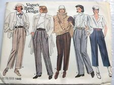 VOGUE BASIC DESIGN PATTERN for PANTS in 5 VARIATIONS