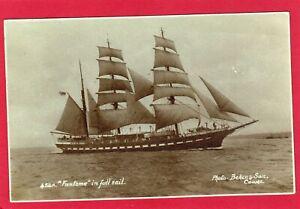 Fantome Schooner Full Sail Sailing Ship RP pc Beken Cowes Isle of Wight AK758