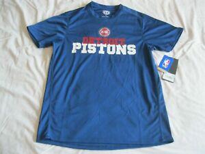 Detroit Pistons Shirt Dri-Fit Style Poly Dot Tee Blue NBA Bad Boys Bey Stewart
