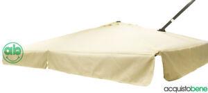 Top copertura telo di ricambio per ombrellone decentrato da giardino 3x3 Mt Roma