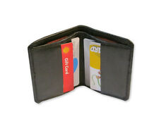 Geniune Leather Credit Card Holder/Mini Wallet Bifold US stock Fast Shipping