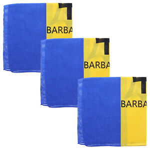 3 Bandanas Cotton Barbados Flag Head Scarf Three Handkerchiefs