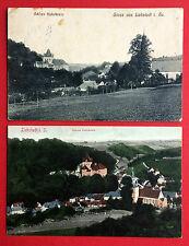 2 x AK LIEBSTADT in Sa. 1908/19 Ortsansicht mit Schloss Kukukstein   ( 9492