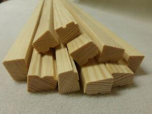 (a0.07)  10Stk 100cm Glasleiste Einnagelleiste Kiefer 16x21mm Holzleisten
