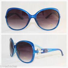 New Womens DG Sunglasses Fashion Designer Shades Eyewear Blue Large Vintage UV