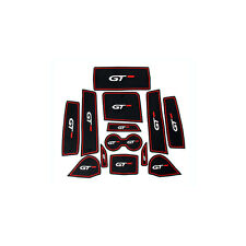 Linkslenker Rot Non-slip Door Slot Pad Cup Holder Mat für Peugeot 3008 GT 16-17