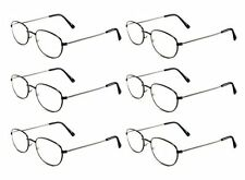Mr. Reading Glasses [+300] 6 Pair All Black Metal Frame Reader Wholesale 3.00