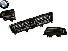 BMW 5 Series F10 F18 530 530 Grill Dash AC Air Vent SET Piano Black Oem 3 PCS