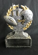 Football trophy Football award personalized Resin Silver Gold