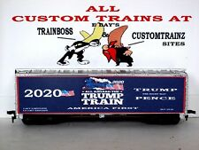HO CUSTOM LETTERED TRUMP TRAIN AMERICA FIRST 2020 COLLECTIBLE REEFER LOT D