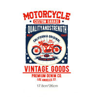 motorcycle iron on patches heat transfer pyrography for diy clothing decor FD
