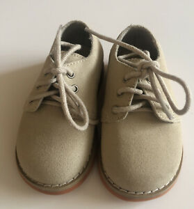 Gymboree  Infant/Toddler Boys' Creamy Tan Leather Suede Shoes Size 3 Dressy