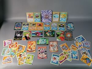 vintage pokemon cards and sticker job lot no idea what they are retro collect