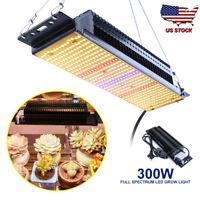 300W LED Grow Light Lamp Sunlike Full Spectrum Indoor Plant Flower with US Plug