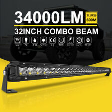 Autofeel 32 Inch 300W LED Light Bar Single Row Flood & Spot Beam Combo 4WD 30""