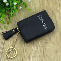 Death Note black PU anime coin purse wallet small handbag bag cartoon new