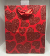 Lot Of 12 Hallmark Expressions Valentine Glitter Hearts Gift Bags Valentines Day