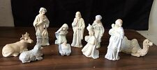 Porcelain Christmas Nativity Set, 10 Pieces, Pastel Colors