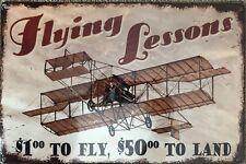 Vintage Antique Reproduction Aviation Metal Sign