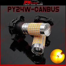 PY24W LED Set Kit Blinker Index Front Light Bulbs Amber Orange Light Canbus