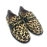 Size 5B Authentic COACH Putnam Haircalf Ocelot Natural Leopard Print Loafers