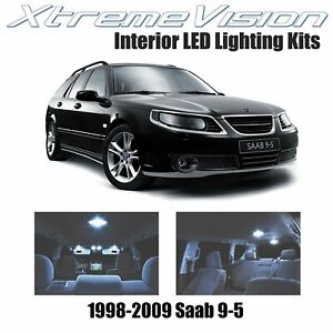 XtremeVision LED for Saab 9-5 1998-2009 (14 Pieces) Cool White Premium Interior
