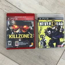 Lot of 2 PS3 games Never Dead and Killzone 2 Rated M