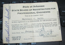 1957 State of Arkansas State Board of Registration for Professional Engineers